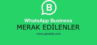 Whatsapp Business Hakkında Merak Edilenler