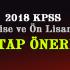 2018 KPSS Lise Ön Lisan Sınavı İçin Hangi Kitap ?